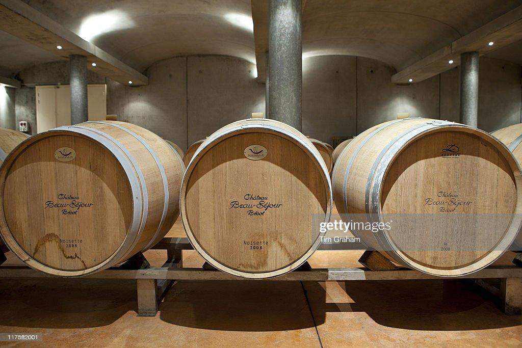Barrels of Wine in St Emilion Bordeaux France Pictures Getty Images