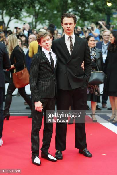 Oakes Fegley and Ansel Elgort attend The Goldfinch premiere during the 2019 Toronto International Film Festival at Roy Thomson Hall on September 08...