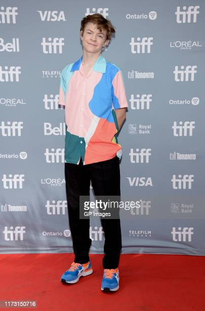Oakes Fegley attends The Goldfinch press conference during the 2019 Toronto International Film Festival at TIFF Bell Lightbox on September 08 2019 in...