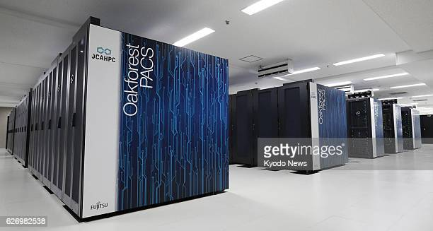 OakforestPACS Japan's fastest supercomputer is unveiled to the media at a campus of the University of Tokyo in Kashiwa Chiba Prefecture on Dec 1 as...