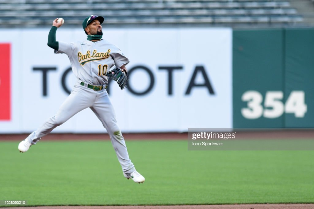 MLB: AUG 15 Athletics at Giants : ニュース写真