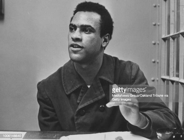 Oakland CA February 29 1968 Huey Newton is interviewed at the Alameda County Courthouse #13#13Published September 27 1968 May 30 1970#13#13#13#13#13