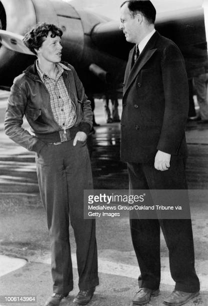 Oakland, CA March 19, 1937 - Amelia Earhart and George Palmer Putnam.