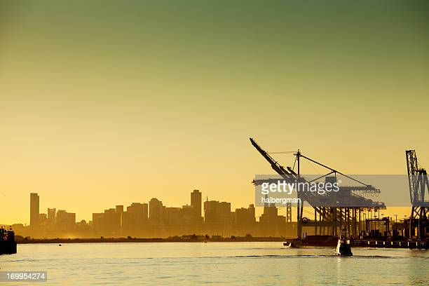Oakland Harbor at Sunset