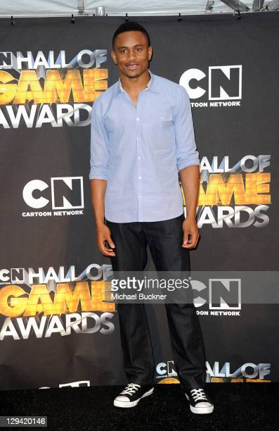 Oakland Raiders cornerback Nnamdi Asomugha attends the Cartoon Network Hall of Game Awards held at The Barker Hanger on February 21, 2011 in Santa...