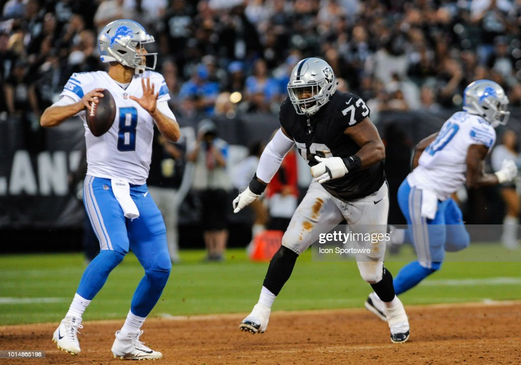 NFL: AUG 10 Preseason - Lions at Raiders : News Photo