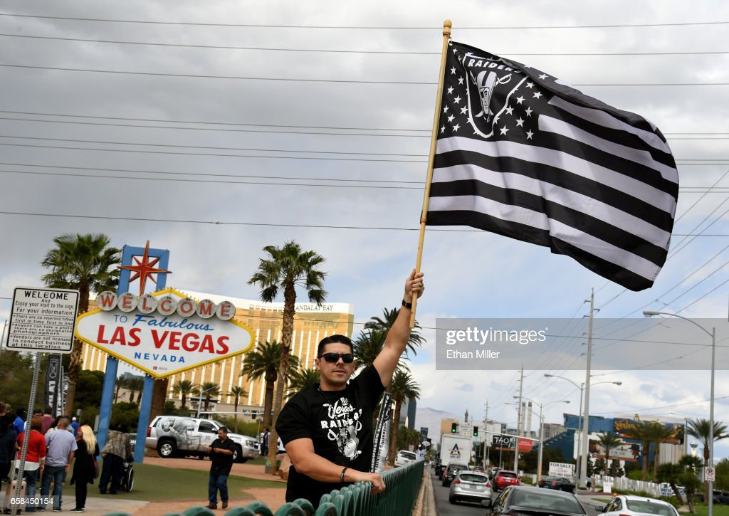 Fans Celebrate NFL Relocation Of Raiders To Las Vegas : News Photo