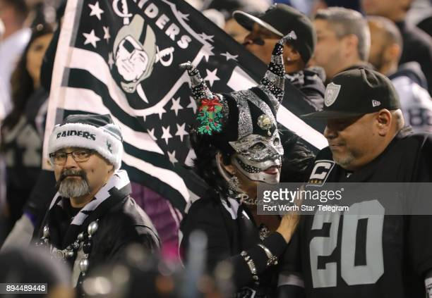 Oakland Raiders fans spare no effort in their game preparations as the Dallas Cowboys play the Oakland Raiders on Sunday Dec 17 2017 at...
