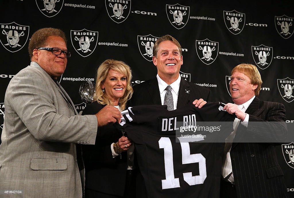 Oakland Raiders Introduce Jack Del Rio : News Photo