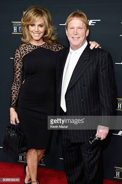 Oakland Raiders owner Mark Davis and guest attend the 5th annual NFL Honors at Bill Graham Civic Auditorium on February 6 2016 in San Francisco...