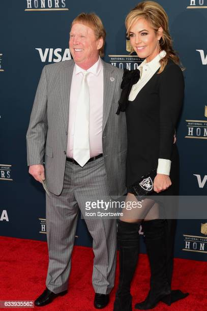 Oakland Raiders owner Mark Davis and his wife on the Red Carpet during the NFL Honors Red Carpet on February 4 2017 at the Worthan Theater Center...