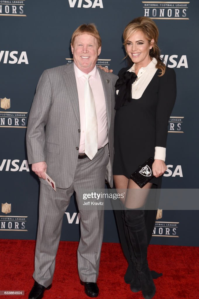 Oakland Raiders owner Mark Davis (L) attends 6th Annual NFL Honors at Wortham Theater Center on February 4, 2017 in Houston, Texas.