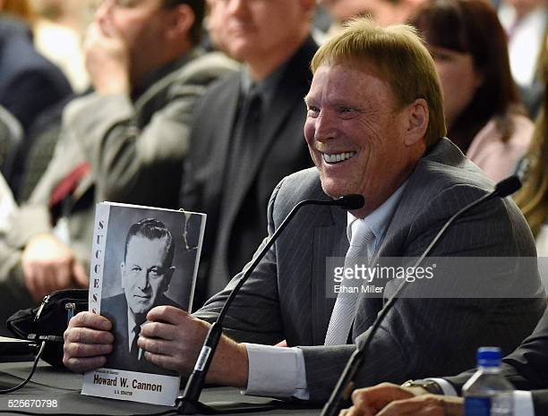 Oakland Raiders owner Mark Davis attends a Southern Nevada Tourism Infrastructure Committee meeting at UNLV on April 28 2016 in Las Vegas Nevada...