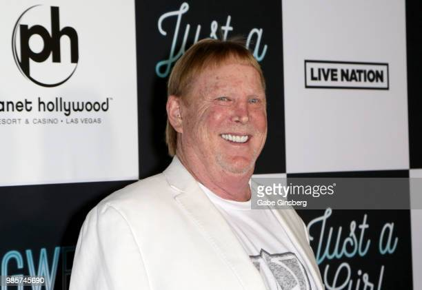 Oakland Raiders owner Mark Davis attends the grand opening of the Gwen Stefani Just a Girl residency at Planet Hollywood Resort Casino on June 27...