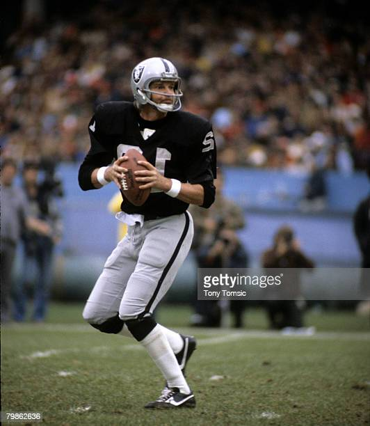 Oakland Raiders quarterback Ken Stabler surveys the field during a 2610 victory over the Cleveland Browns on October 9 at Cleveland Municipal Stadium...