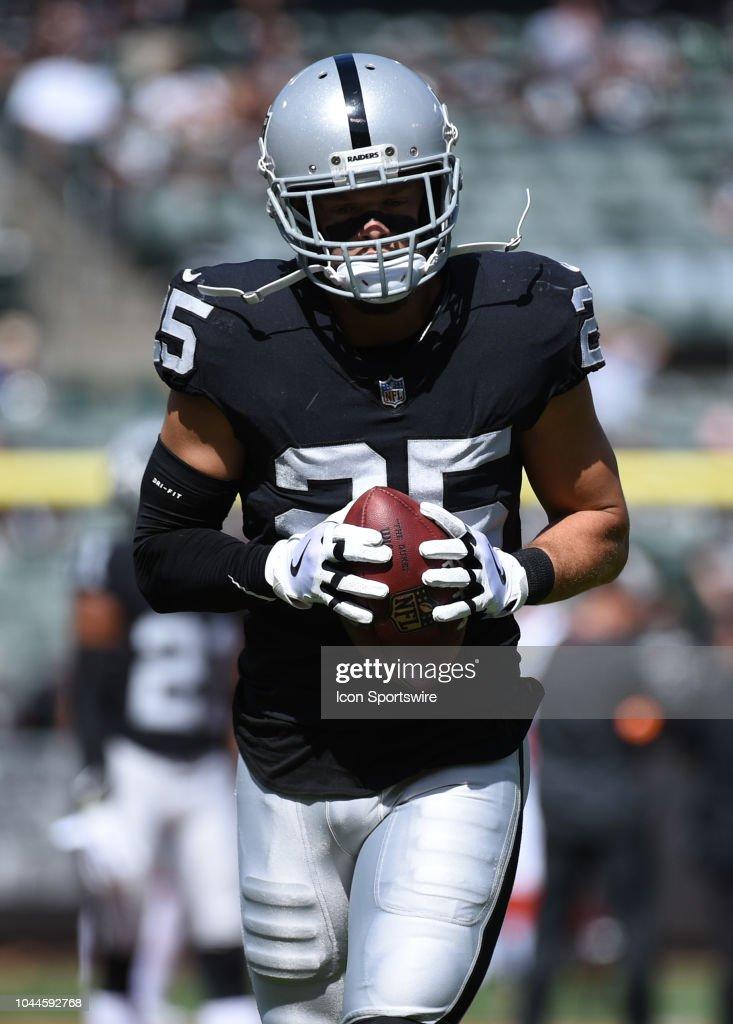 the best attitude 191b8 ebcb4 Oakland Raiders Safety Erik Harris during the NFL football ...