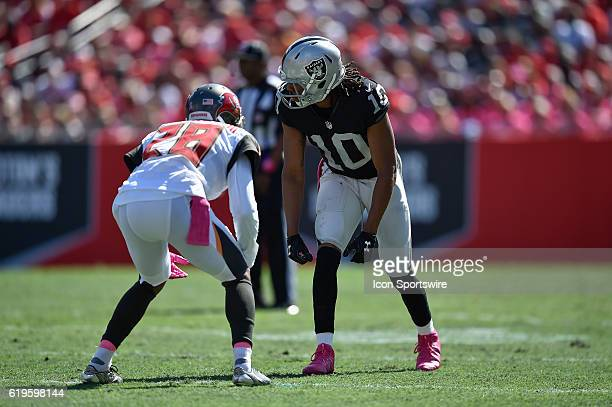Oakland Raiders Wide Receiver Seth Roberts during an NFL football game between the Oakland Raiders and Tampa Bay Buccaneers on October 30 at Raymond...