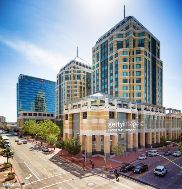 oakland ronald v dellum's federal building elevated view - oakland california stock pictures, royalty-free photos & images