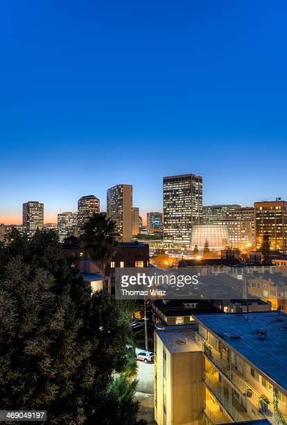 Oakland Skyline at dusk