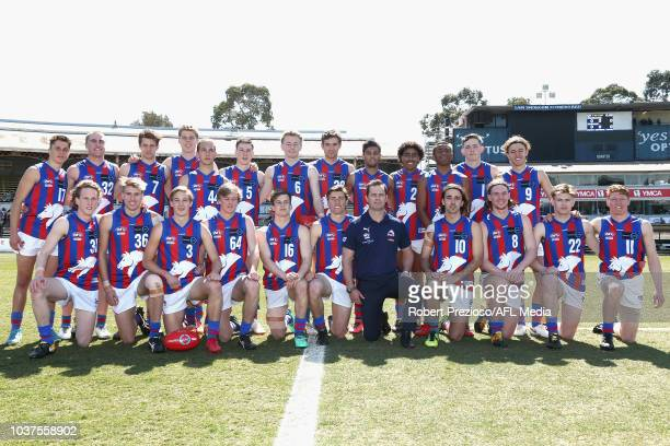 Oakleigh pose for a team photo during the 2018 TAC Cup Grand Final match between Dandenong and Oakleigh at Ikon Park on September 22 2018 in...