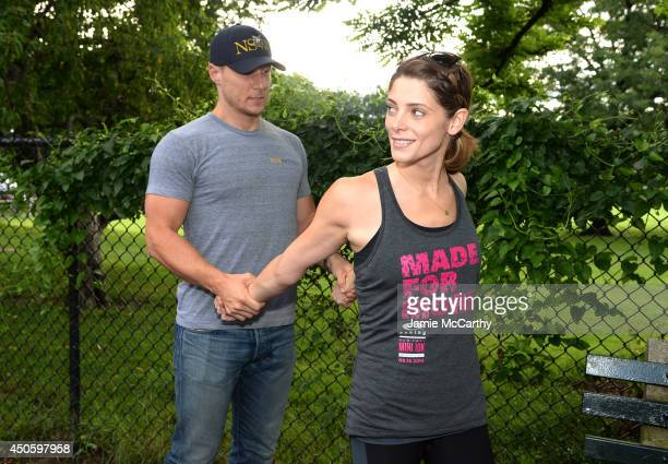 Oakley Eyewear Ambassador Ashley Greene attends Oakley New York Mini 10K on June 14 2014 in New York City