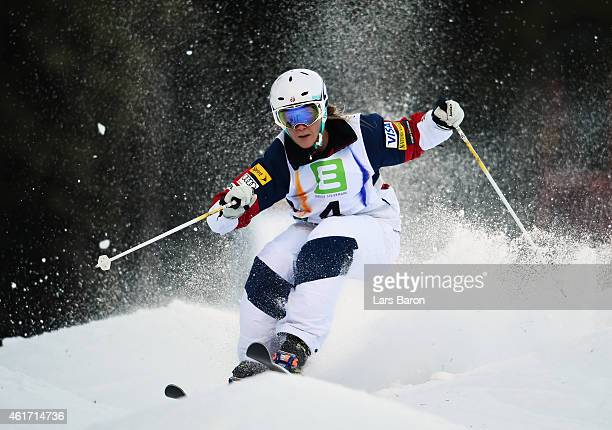 Oakley of USA competes during the Women's Moguls Final of the FIS Freestyle Ski and Snowboard World Championship 2015 on January 18, 2015 in...