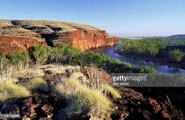oakover river in the great sandy desert, western australia - great sandy desert fotografías e imágenes de stock