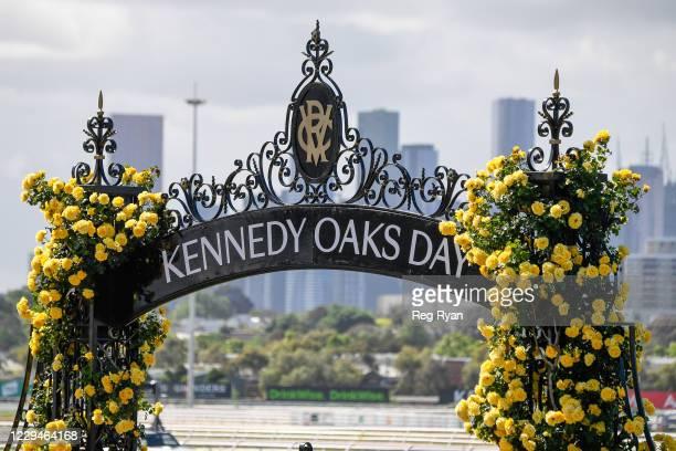 Oaks Day at Flemington Racecourse on November 05, 2020 in Flemington, Australia.