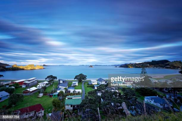 Oakura bay and holiday homes, Northland, New Zealand