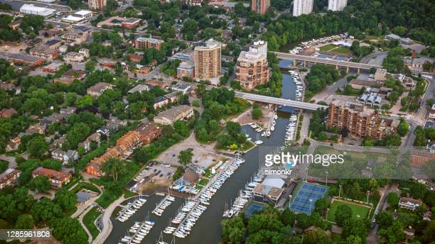 oakville city and sixteen mile creek - ontario canada stock pictures, royalty-free photos & images