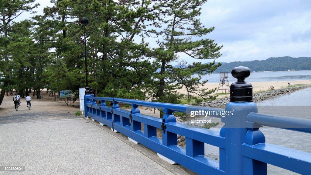 Oama Bridge (Oamabashi) in Amanohashidate, Kyoto : Stock Photo