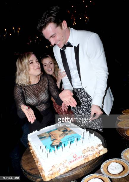 Oana Gregory and Drake Bell attend Drake Bell's birthday celebration at Black Rabbit Rose on June 27 2017 in Los Angeles California