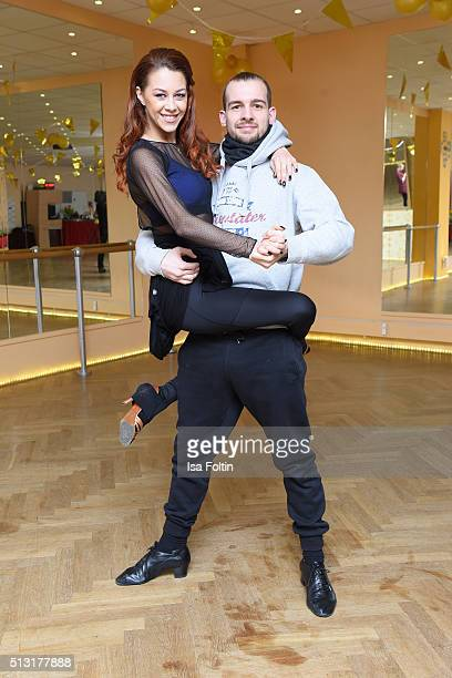 Oana Nechiti and Eric Stehfest pose at a photo call for the television competition 'Let's Dance' on March 1 2016 in Berlin Germany On March 11th the...
