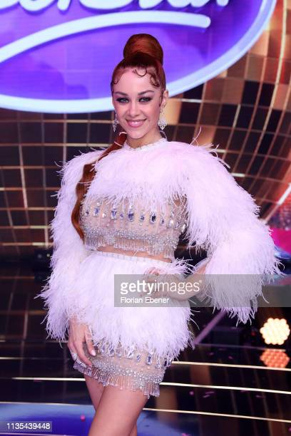 Oana Nechiti during the first event show of the tv competition Deutschland sucht den Superstar at Coloneum on April 6 2019 in Cologne Germany For...