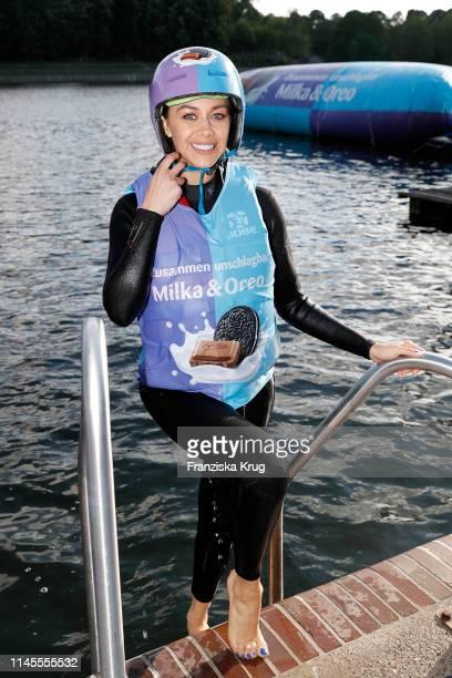 Oana Nechiti during the Milka Charity Blobbing-Event at Hamburger Stadtpark on May 22, 2019 in Hamburg, Germany.