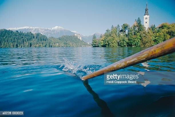 Oar in Lake