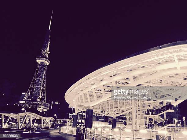 Oasis 21 And Nagoya Tv Tower Against Sky At Night