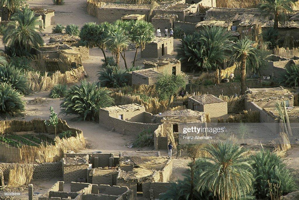 Oasis Bardai , Tibesti , Sahara Desert , Chad : Stock Photo