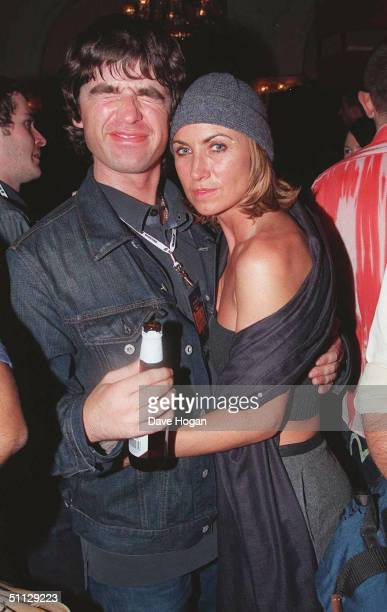 Oasis guitarist Noel Gallagher with wife Meg Matthews at the Music Mag Awards