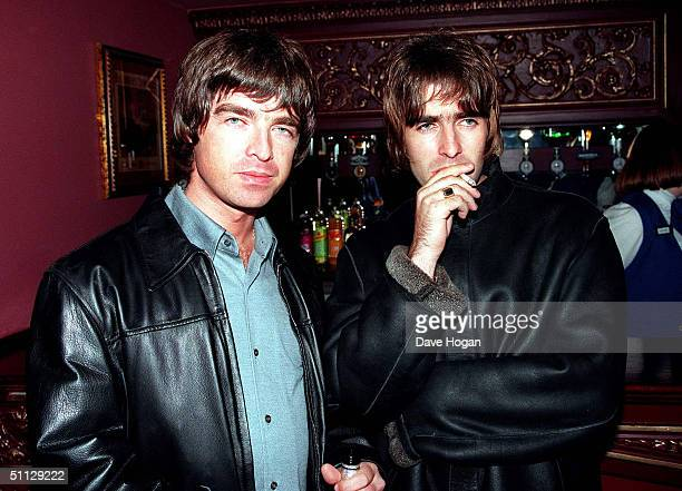 Oasis lead singer Liam Gallagher and brother Noal Gallagher at the opening night of Steve Coogan's comedy show in the West End London