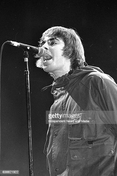 Oasis Lead Singer Liam Gallagher in action at the Point Depot Dublin