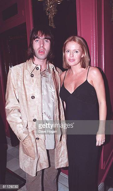 Oasis lead singer Liam Gallagher with wife Patsy Kensit out in London