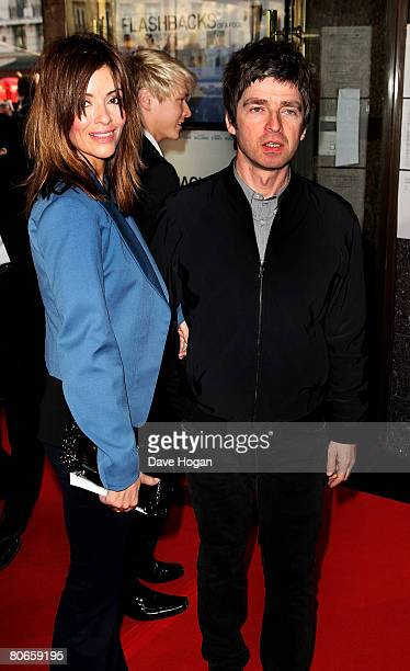 Oasis member Noel Gallagher and his girlfriend Sara McDonald arrive at the UK premiere of 'Flashbacks of a Fool' at the Empire cinema Leicester...