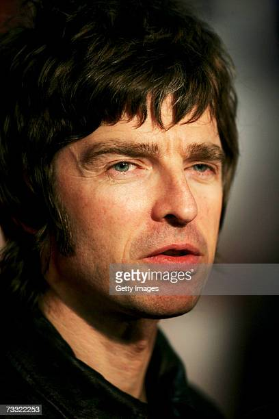 Oasis member Noel Gallagher arrives at The BRIT Awards 2007 in association with MasterCard at Earls Court 1 on February 14 2007 in London England