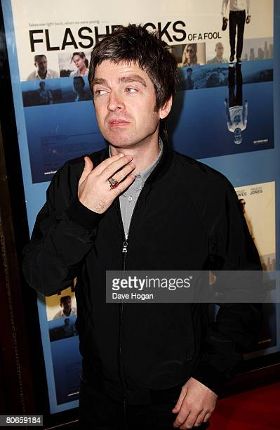 Oasis member Noel Gallagher arrives at the UK premiere of 'Flashbacks of a Fool' at the Empire cinema Leicester Square on April 13 2008 in London...