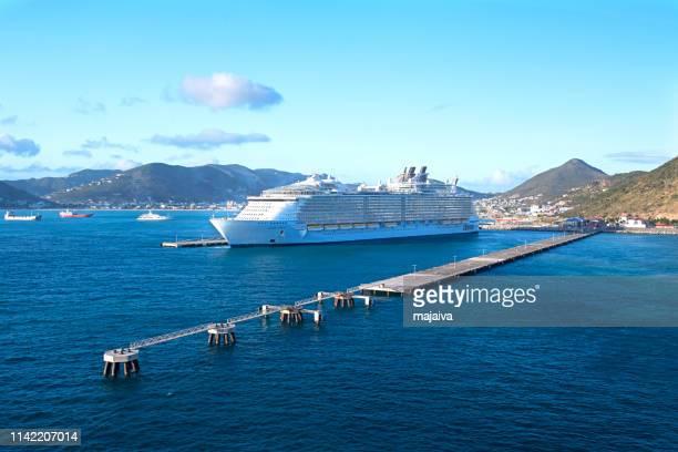 Oasis of the Seas moored in Philipsburg, Saint Maarten