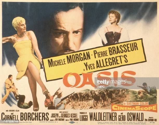 Oasis, poster, US poster, top from left: Michele Morgan, Pierre Brasseur, Cornell Borchers, 1955.