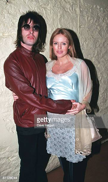 Oasis singer Liam Gallagher and wife Patsy Kensit at the 'Janice Beard 45 Words Per Minute' premiere in London
