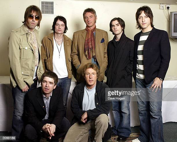 Oasis star Noel Gallagher and The Who's Roger Daltrey are joined by fellow rock stars Liam Gallagher and Gem Archer of Oasis Paul Weller Kelly Jones...