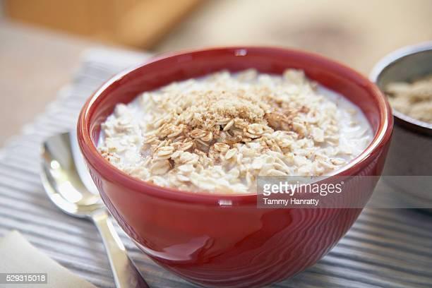 Oatmeal in bowl